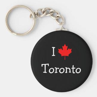 I Love Toronto Basic Round Button Key Ring