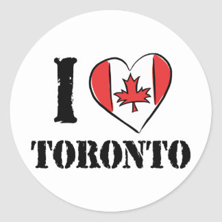 I Love Toronto Canada Classic Round Sticker
