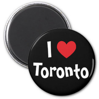 I Love Toronto 6 Cm Round Magnet