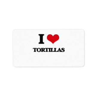 I love Tortillas Address Label