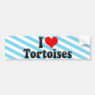 I Love Tortoises Bumper Stickers
