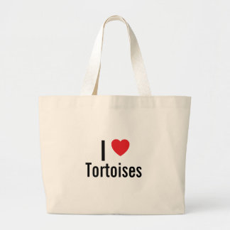 I love Tortoises Large Tote Bag
