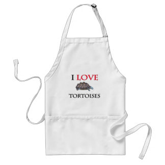 I Love Tortoises Standard Apron