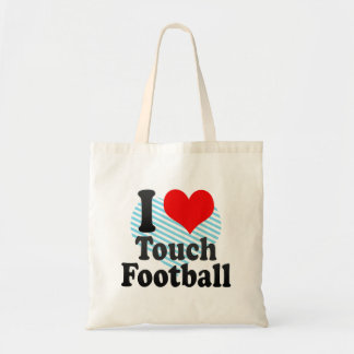 I love Touch Football Canvas Bags