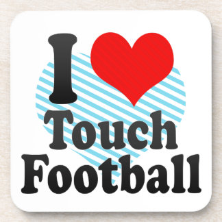 I love Touch Football Beverage Coasters
