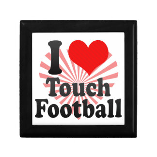 I love Touch Football Jewelry Boxes
