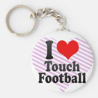 I love Touch Football Keychains