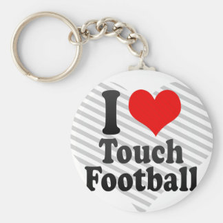 I love Touch Football Key Chains