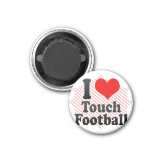 I love Touch Football Magnets