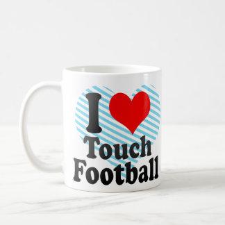 I love Touch Football Coffee Mugs