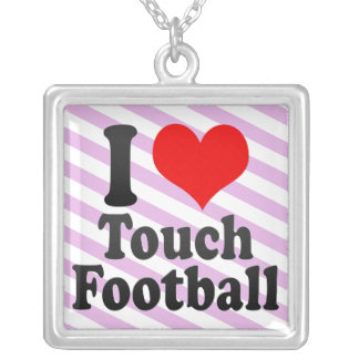 I love Touch Football Necklaces