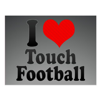 I love Touch Football Post Card