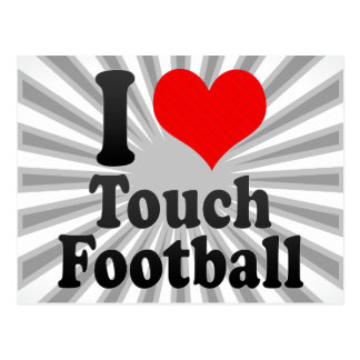 I love Touch Football Postcard