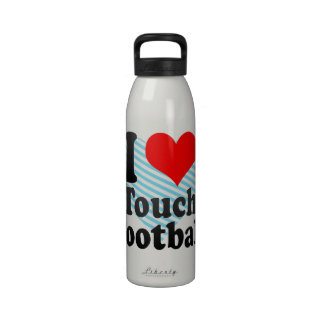 I love Touch Football Water Bottles