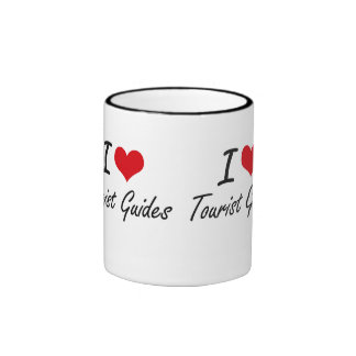 I love Tourist Guides Ringer Mug