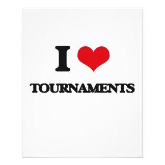 I love Tournaments 11.5 Cm X 14 Cm Flyer