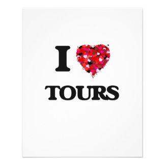 I love Tours 11.5 Cm X 14 Cm Flyer