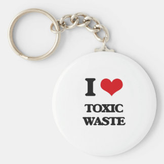 I love Toxic Waste Basic Round Button Keychain