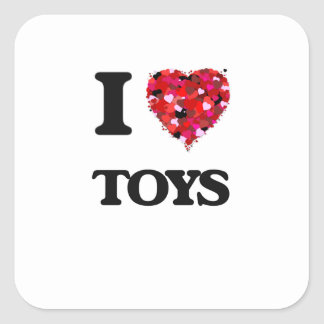 I love Toys Square Sticker
