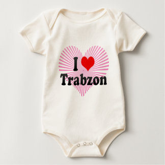 I Love Trabzon, Turkey Baby Bodysuit