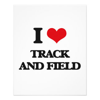 I love Track And Field 11.5 Cm X 14 Cm Flyer