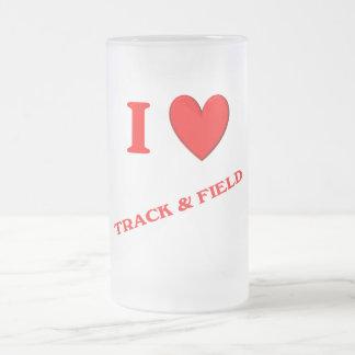 I Love Track and Field Mugs