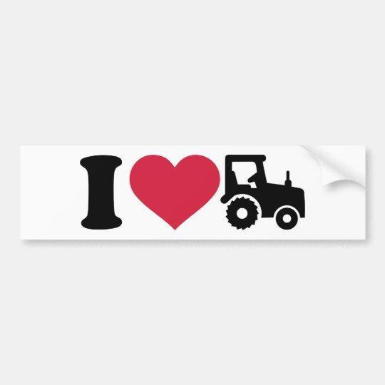 I love tractor bumper sticker