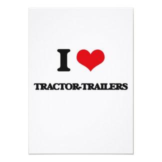 """I love Tractor-Trailers 5"""" X 7"""" Invitation Card"""
