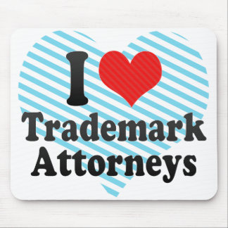 I Love Trademark Attorneys Mouse Pad