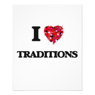 I love Traditions 11.5 Cm X 14 Cm Flyer