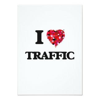 I love Traffic 13 Cm X 18 Cm Invitation Card