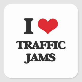 I love Traffic Jams Square Sticker