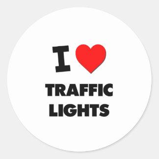 I love Traffic Lights Stickers
