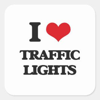 I love Traffic Lights Square Sticker