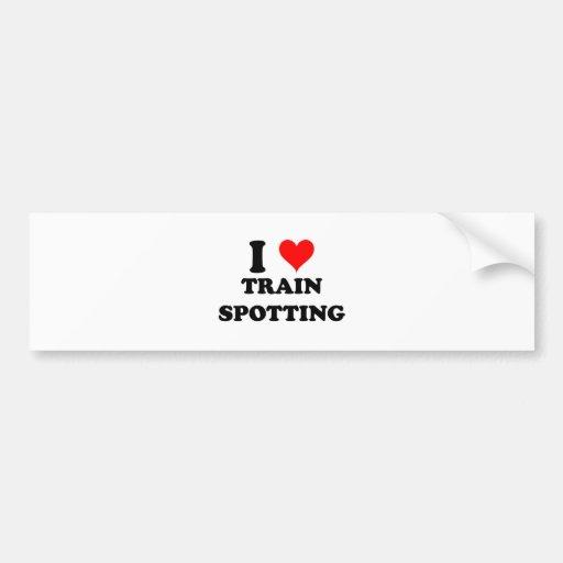 I Love Train Spotting Bumper Sticker