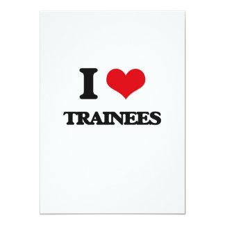 "I love Trainees 5"" X 7"" Invitation Card"
