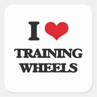 I love Training Wheels Square Sticker