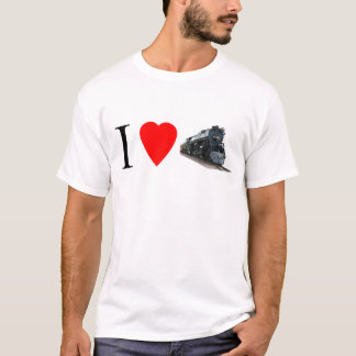 I Love Trains - Adult T-Shirt