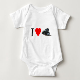 I Love Trains Baby Bodysuit