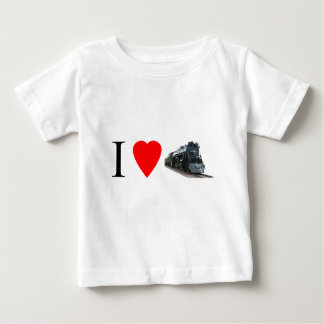 I Love Trains Baby T-Shirt
