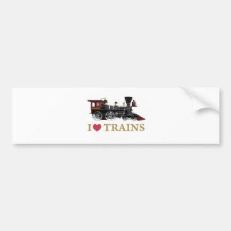 I Love Trains Bumper Sticker