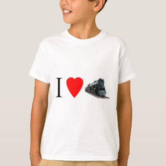 I Love Trains - Kid's Shirt