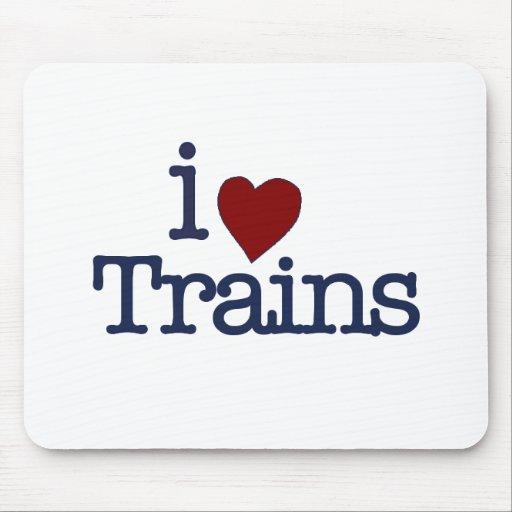 I Love Trains Mouse Mat