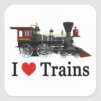 I Love Trains Stickers
