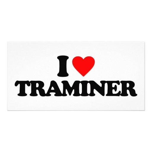 I LOVE TRAMINER PHOTO CARD