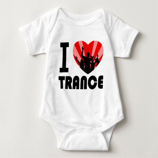 I love Trance Dancers design Baby Bodysuit