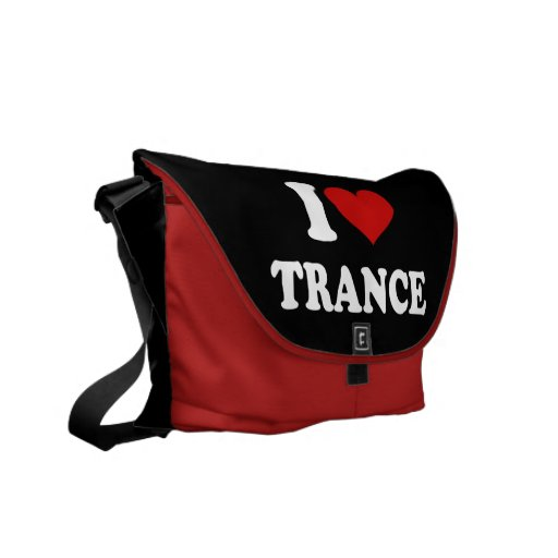 I Love Trance Courier Bags