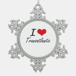 I love Transatlantic Pewter Snowflake Decoration