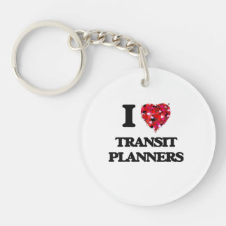 I love Transit Planners Single-Sided Round Acrylic Key Ring