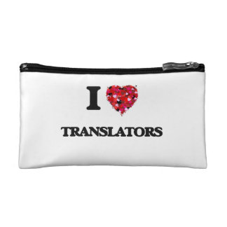 I love Translators Cosmetic Bags